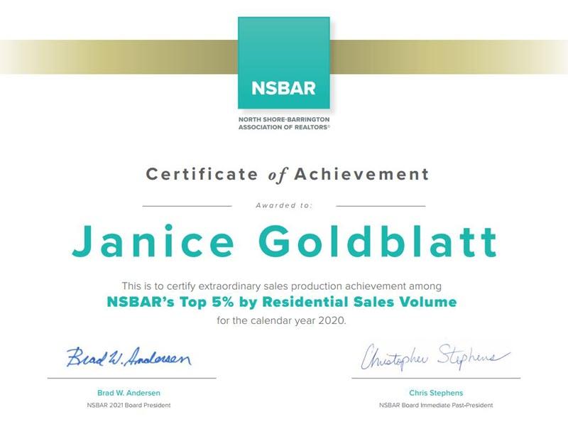 2020 Sales Volume Award